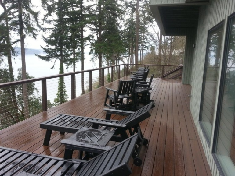 Skagit Bay Waterfront deck ideas