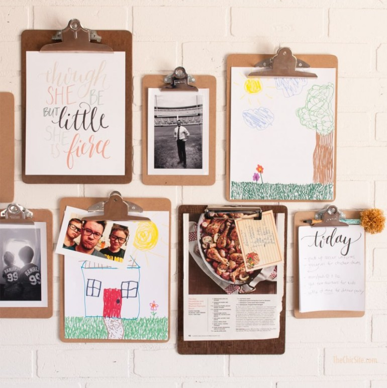 diy photo clipboard rustic home decor