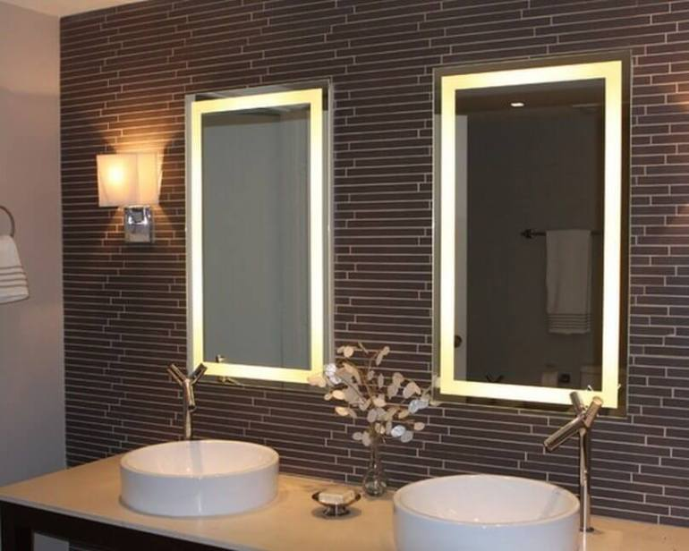 bathroom mirror ideas for single sink