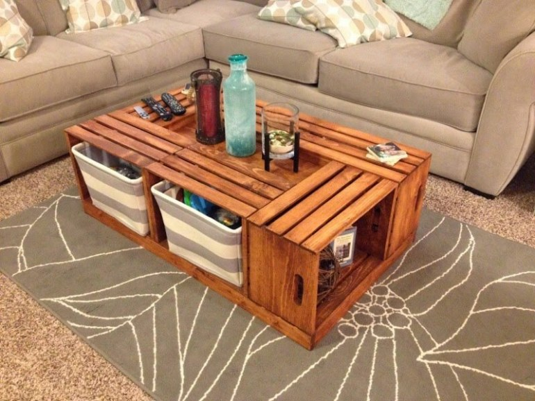diy rustic coffee table ideas