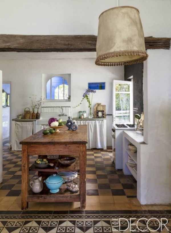 Rustic Kitchen Pendant Light Natural Leather