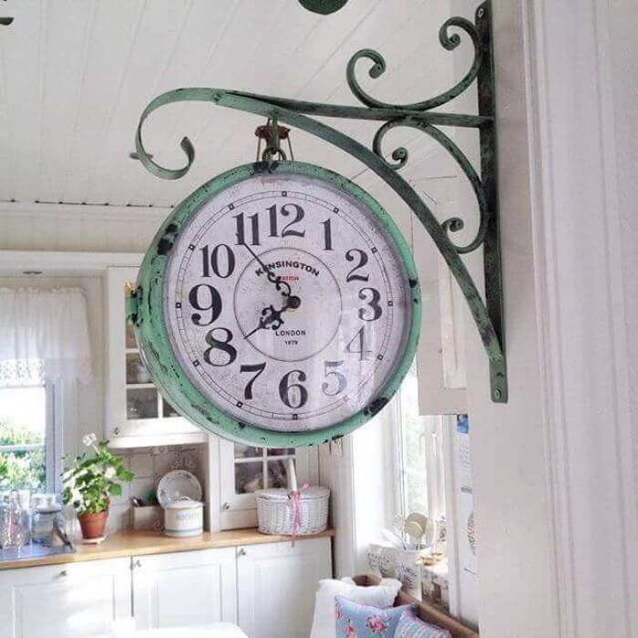 Vintage Hanging Clock Farmhouse Kitchen Decor