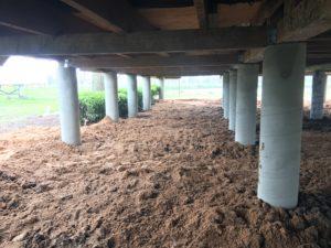 Filled Sonotubes Coastal Bend Foundation Repair