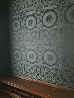 silk lined walls
