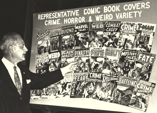 Image result for congressional hearing on comic books 1954