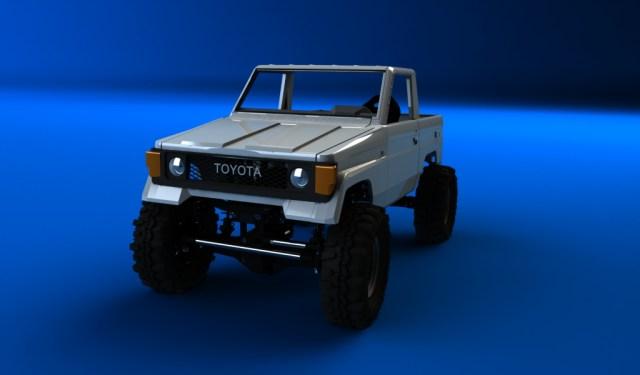 LJ70 sur chassis SCX10