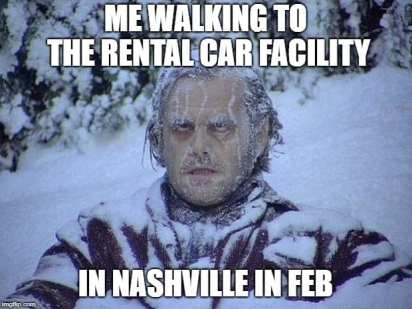 Nashville in February Airport Memes