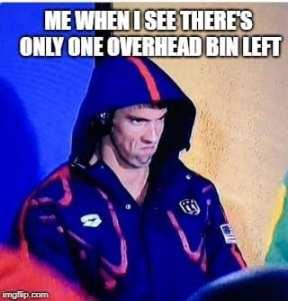 Airplane Memes - Overhead bin storage