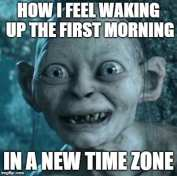Business Travel Memes - the first morning