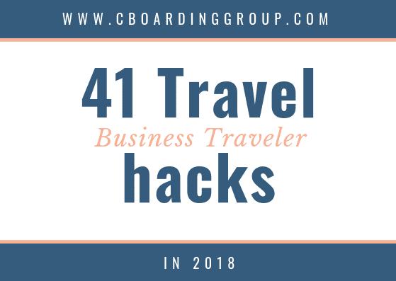 41 Travel Hacks for the Business Traveler