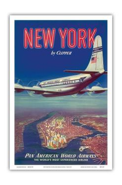 Vintage Aviation Poster - Gifts for Business Travelers