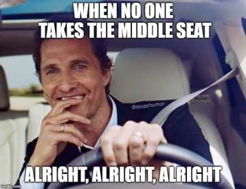 When No One Takes the Middle Seat Airplane Memes