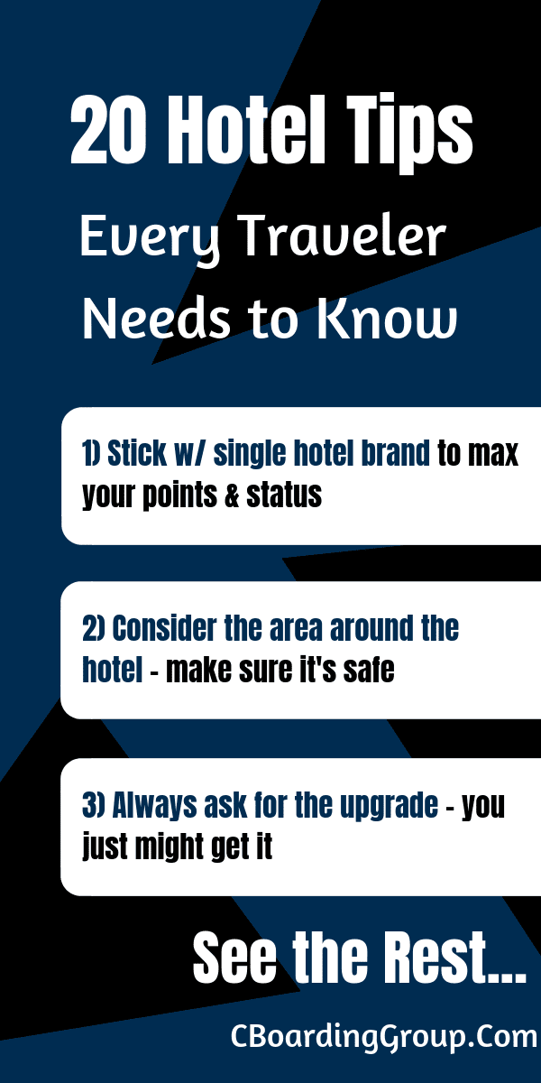 20 Hotel Tips You Need to know