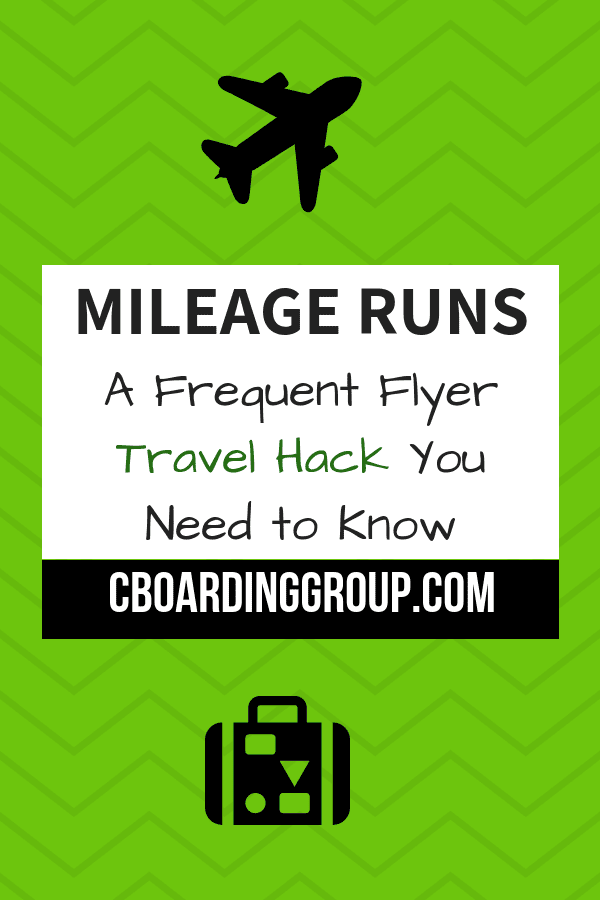 Mileage Run - A Frequent Flyer Travel Hack You Need to Know About