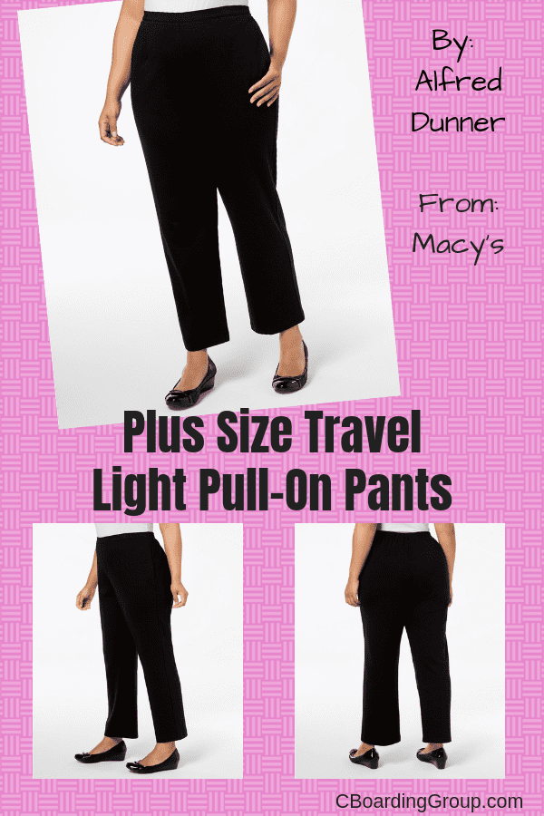 Plus Size Travel Light Pull-On Pants - Gifts for Business Travelers