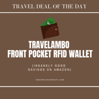 Travel Deal of the Day: Travelambo Front Pocket RFID Wallet (insanely good savings)