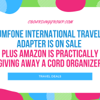 JMFONE International Travel Adapter is on Sale PLUS Amazon is practically giving away a cord organizer