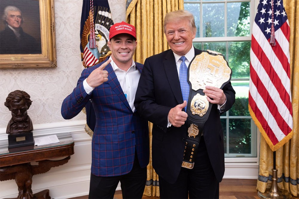 Colby Covington and Donald Trump at the White House