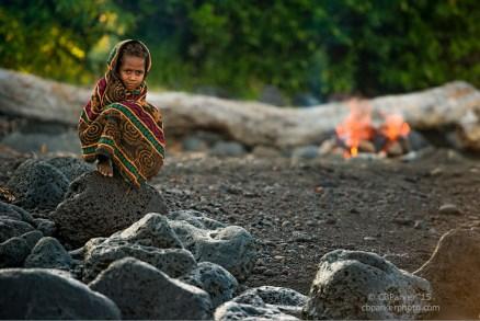 Village Girl on a Black Sand Beach - Ambrym Island, Vanuatu 2012