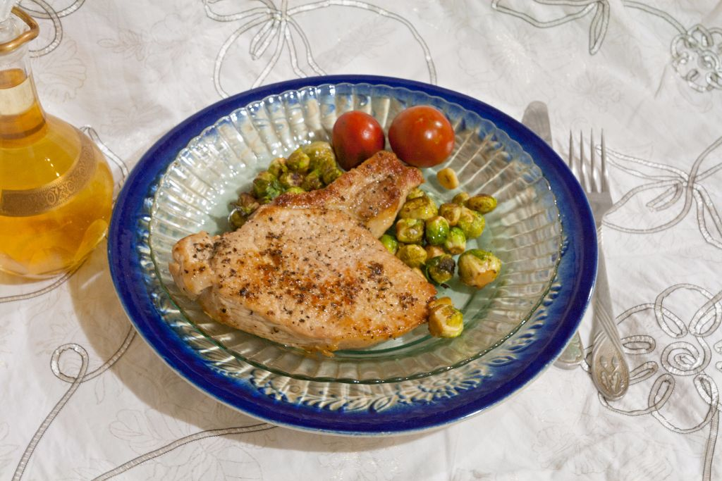 Pork Chops with Brussel Sprouts