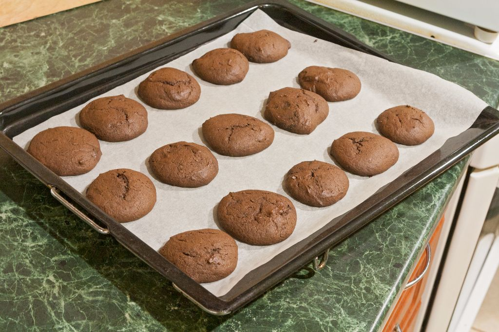Taking out the ready whoopie pie cookies