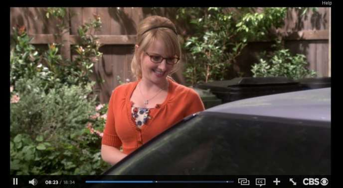Here I am watching Big Bang Theory with commercials on CBS All Access