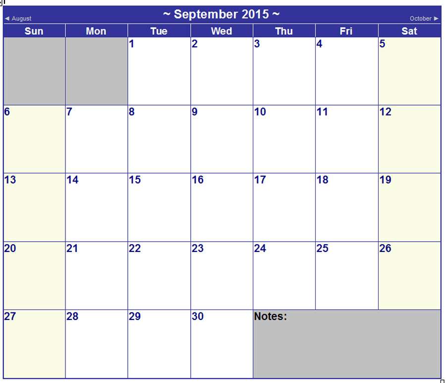 Image Result For Small Printable Monthly Calendar