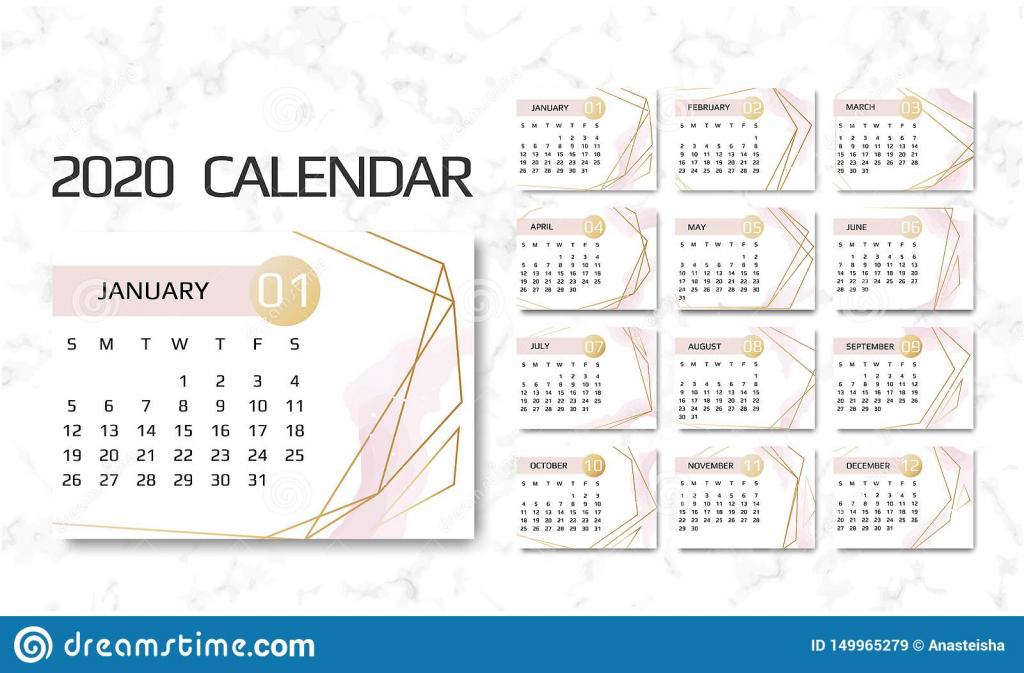 Calendar With 9 Lines Calendar Template 2019