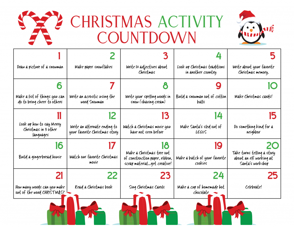 Countdown Calendar For Preschool Printable Calendar