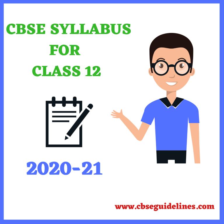 class-12-syllabus