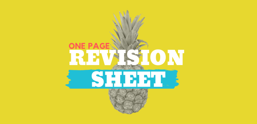One Page Revision Sheet