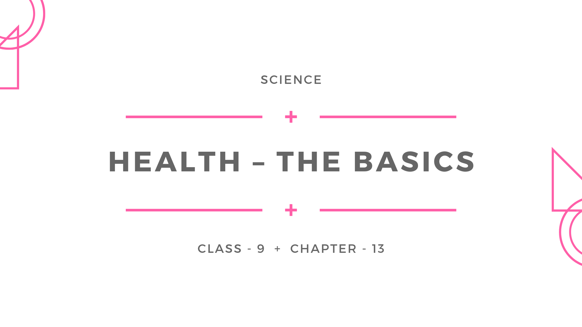 Health_the basics