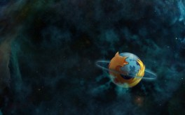 Firefox Logo Saturn Planet Ring Space Desktop Wallpaper