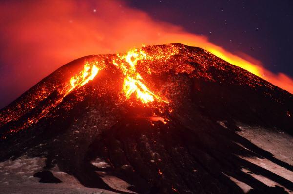 Chile's Villarica volcano erupts, shooting lava into the ...