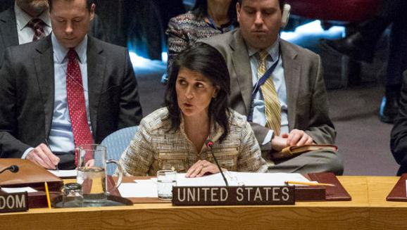 Image result for Making Good on Trump's Promise, Nikki Haley Takes an Ax to Spending for the UN