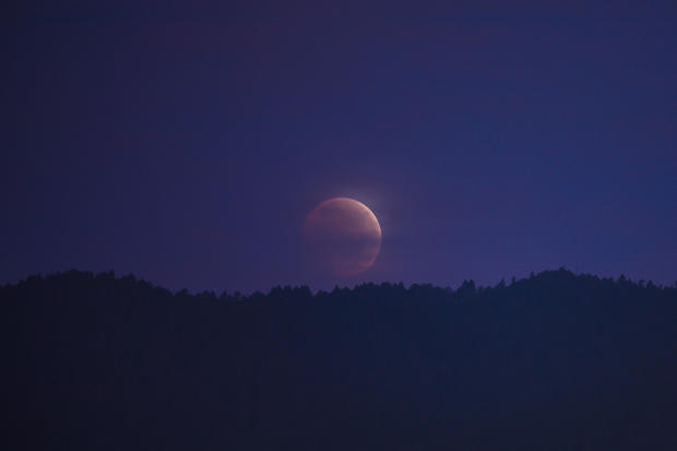 Total lunar eclipse in Mexico City