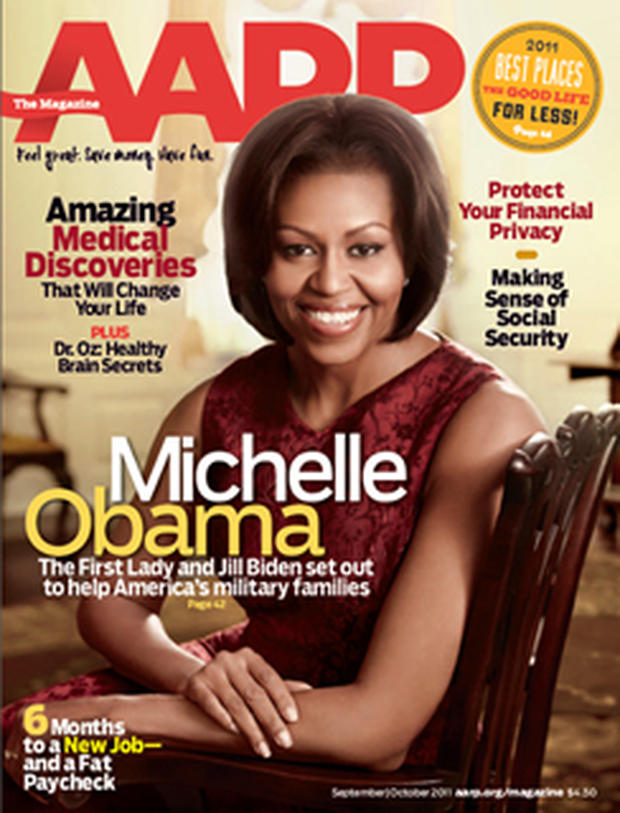 Michelle Obama on the cover of AARP magazine - CBS News