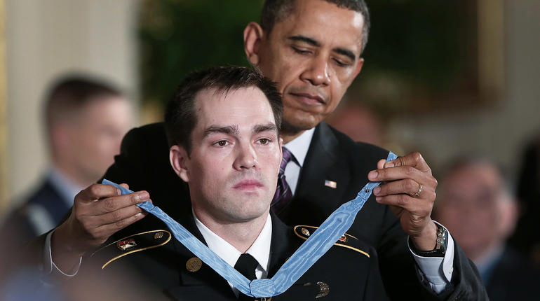 Army hero honored at the White House