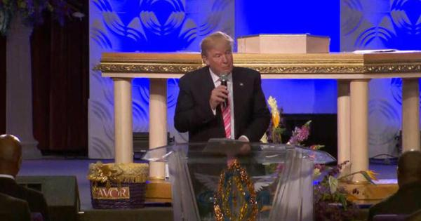 Watch: Donald Trump speaks at Great Faith Ministries ...