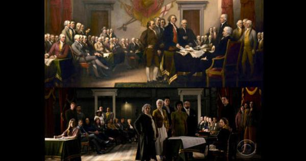 Founding fathers' descendants united 241 years later - CBS ...