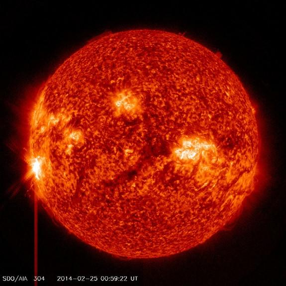 Sun unleashes monster solar flare biggest of 2014 CBS News