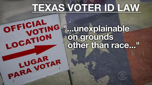"""Texas' voter ID law is """"unexplainable on grounds other ..."""