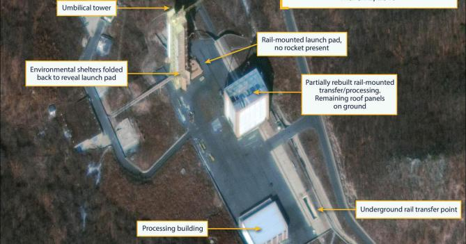 Image result for tongchang-ri launch site