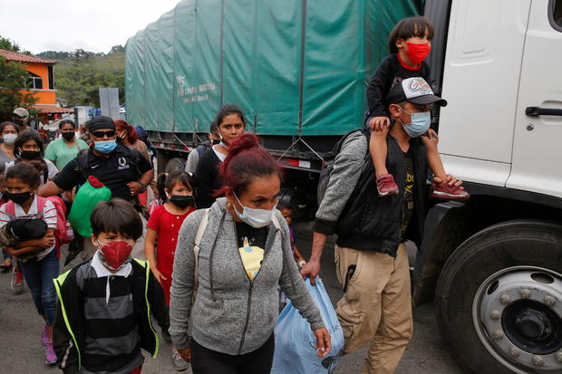 Honduran migrants are being sent back by Guatemalan authorities