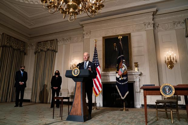 President Biden makes remarks and signs executive action on climate change and job creation