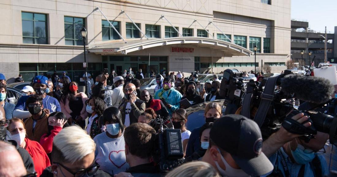 DMX Vigil: Friends and Family Say Prayers Outside New York Hospital