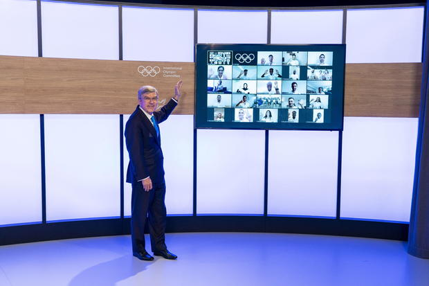 IOC President Bach announces the IOC Refugee Team members for Tokyo 2020 in Lausanne