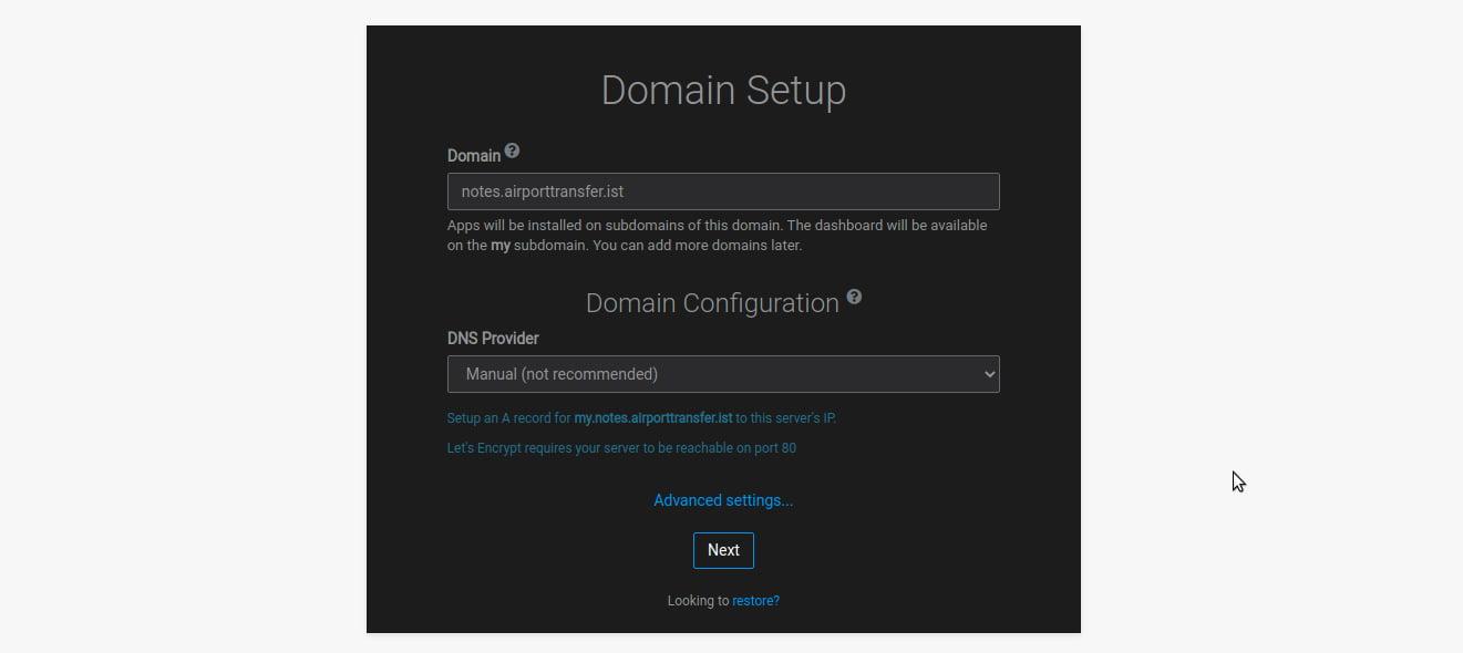 cloudron-domain-setup