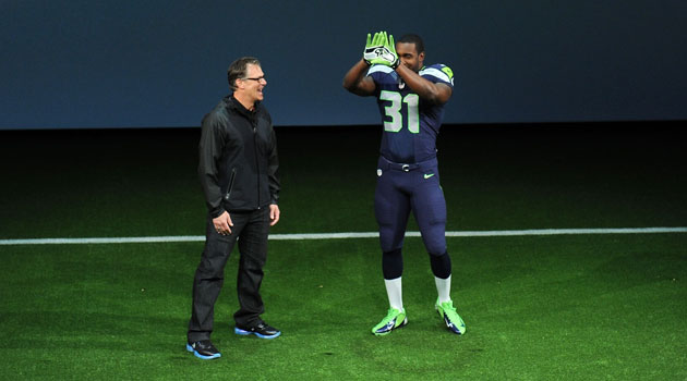 New Seattle Seahawks Uniform.  Image Courtesy of Getty Images/CBS Sports.