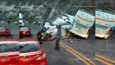 Photo of Choca camión y tráiler, hay 10 heridos